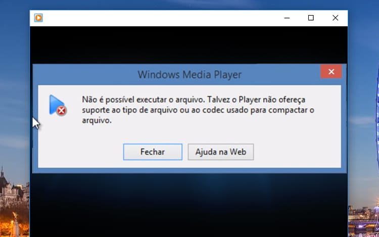 Não foi possível executar o arquivo, saiba como acabar com este problema no Windows Media Player