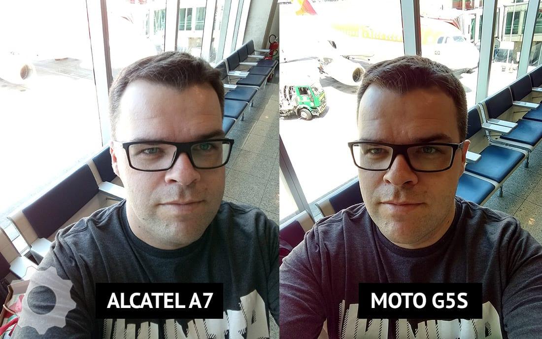Comparativo de Selfie entre os smartphones A7 e G5s