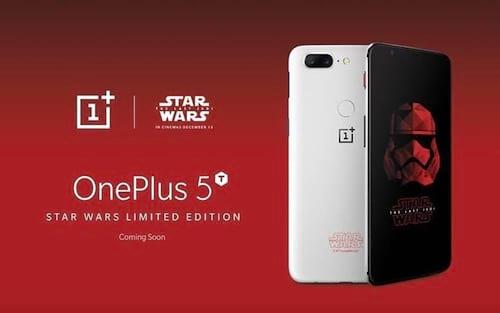 Edição limitada do OnePlus 5T é destinada aos fãs de Star Wars