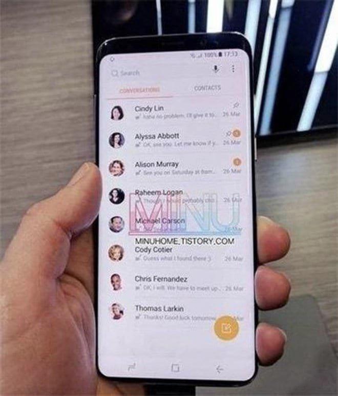 Samsung S9 surge com tela infinita em nova foto.