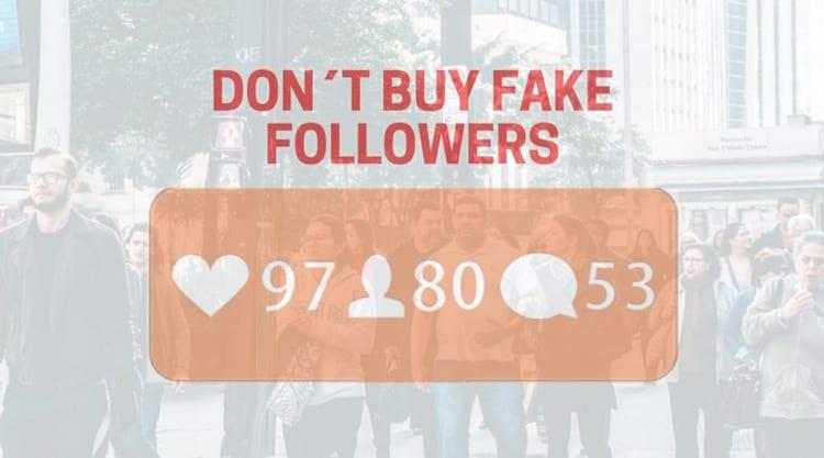 Instagram: Não compre seguidores