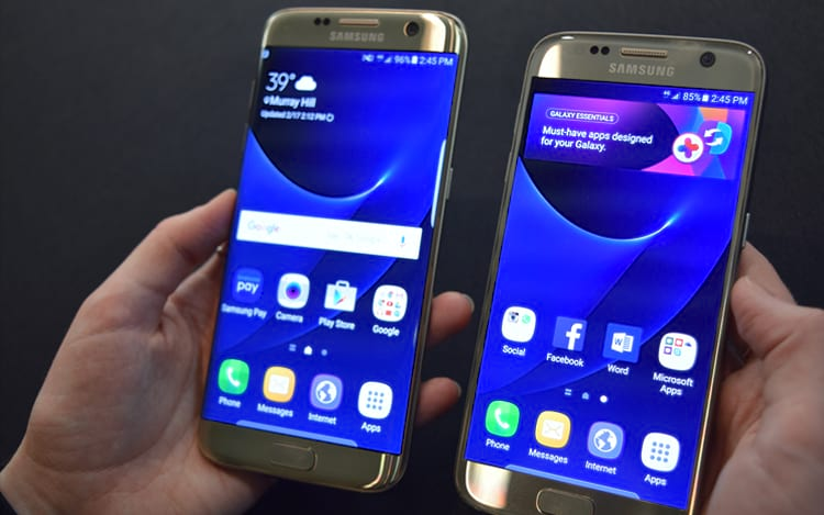 Comparativo Galaxy S7 e S7 Edge