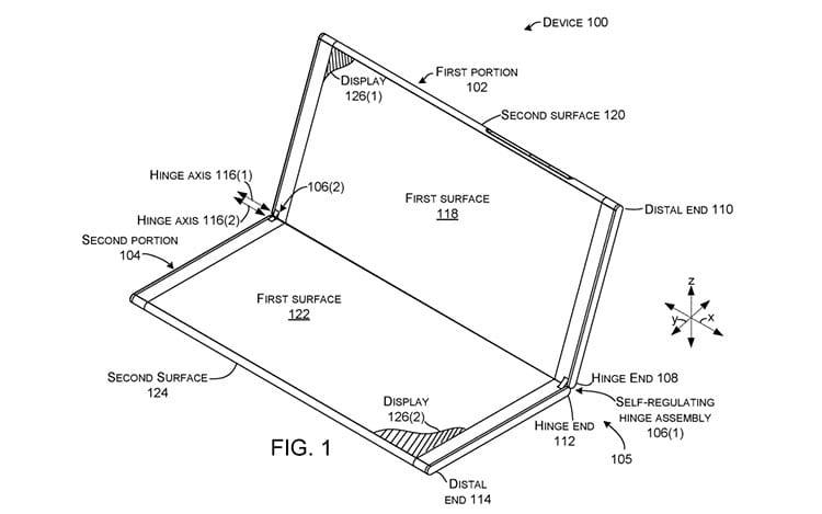 Microsoft está desenvolvendo aparelho com 2 telas