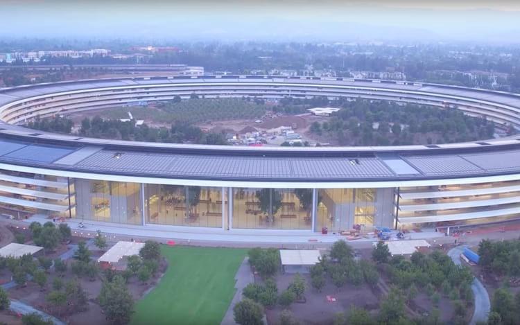 Apple Park já está sendo finalizada.