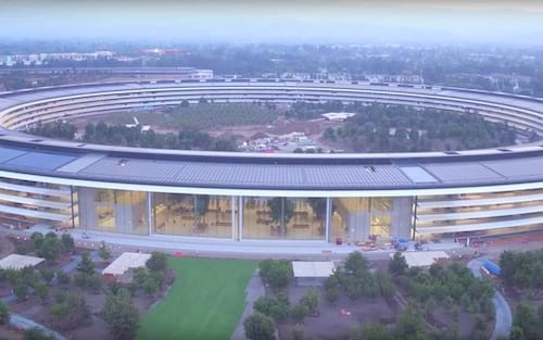 Apple Park já está sendo finalizada