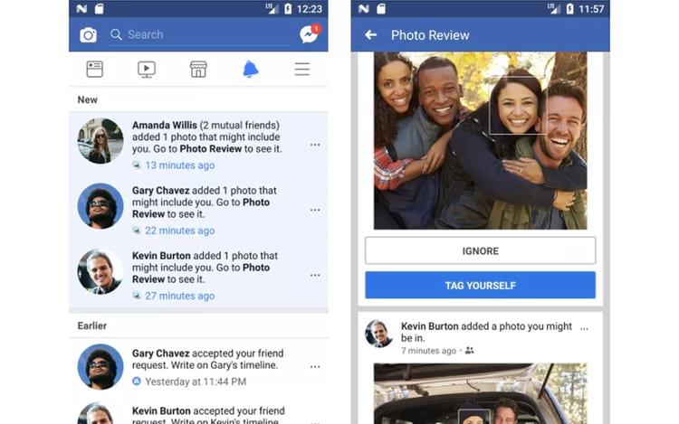 Facebook agora notifica sempre que você aparecer em uma foto de amigos.