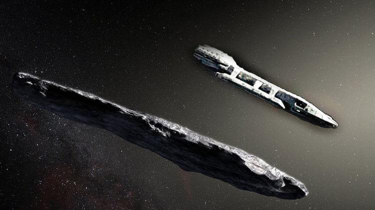 Alguns dizem que o asteroide seria uma nave disfarçada