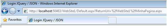 Asp .Net - Autenticação com JQuery/JSON