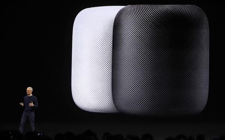 HomePod da Apple, com lançamento previsto para os primeiros meses deste ano.