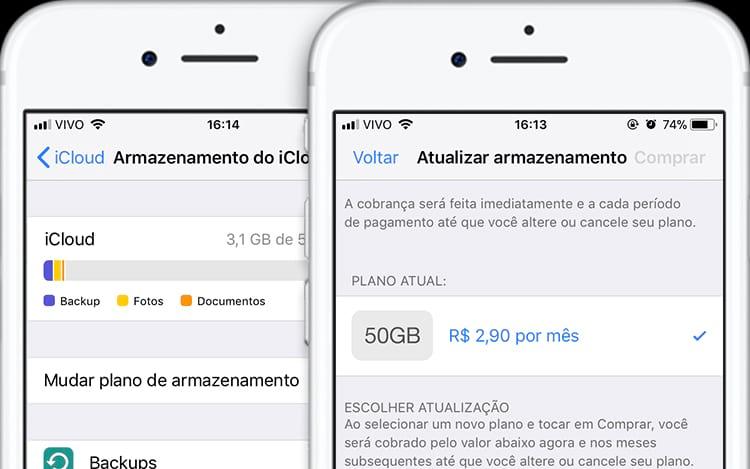 Com a adoção do real, preço do iCloud despencou.
