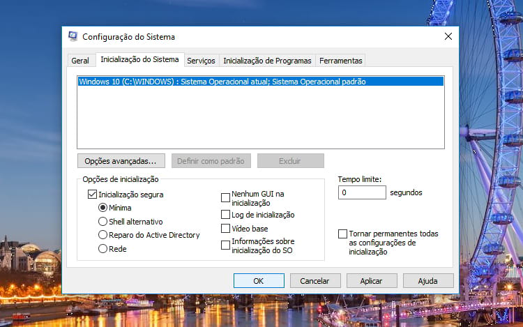 Aprenda a iniciar o Windows 10 no modo segurança