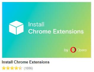 Extensão do Opera pra baixar extensões do Chrome