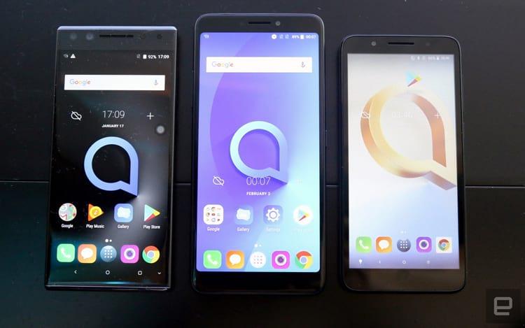 Alcatel apresenta protótipos da nova linha de smartphones de entrada da marca
