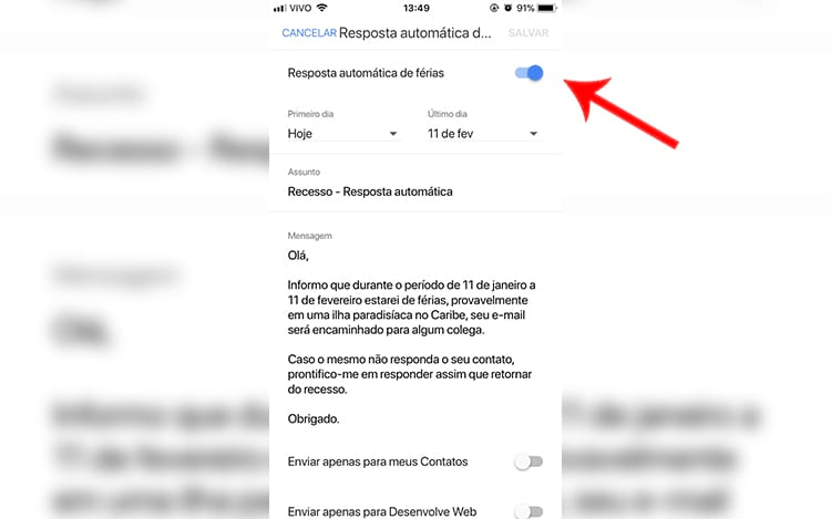 Tá de férias? Aprenda a configurar a resposta automática no seu Gmail