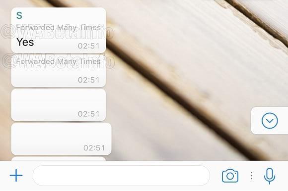 Mensagem de alerta para spam
