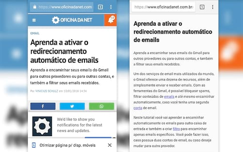 Aprenda a ativar o modo leitura do Chrome no Android em qualquer site