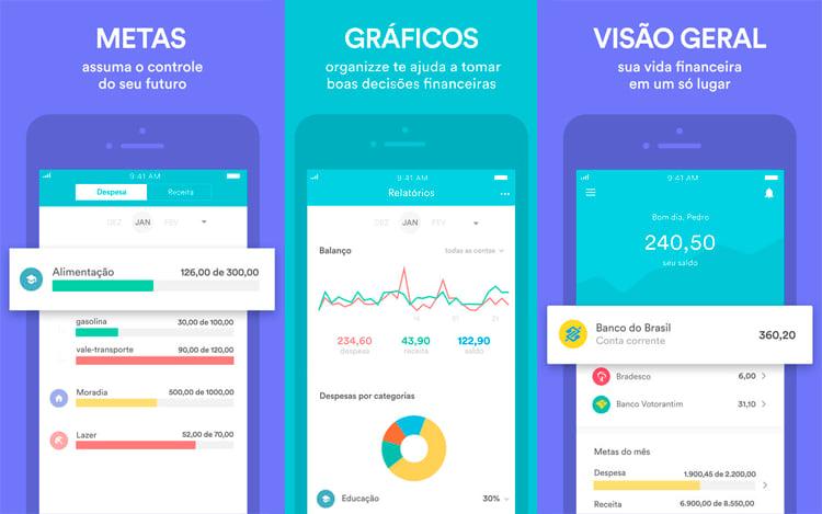 Aplicativo Organizze Finanças