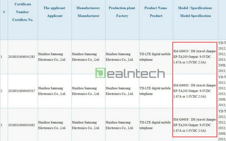 Relatório 3C - Carregamento da bateria do Galaxy S9 e S9+