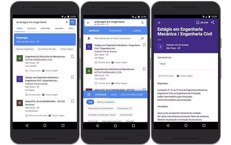Google lança ferramenta para encontrar vagas de emprego no Brasil