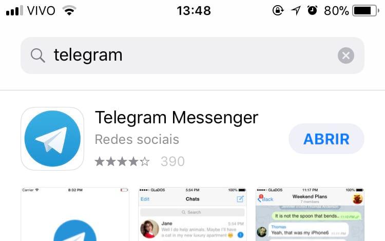 Telegram volta ao ar no inicio da tarde de hoje (01).