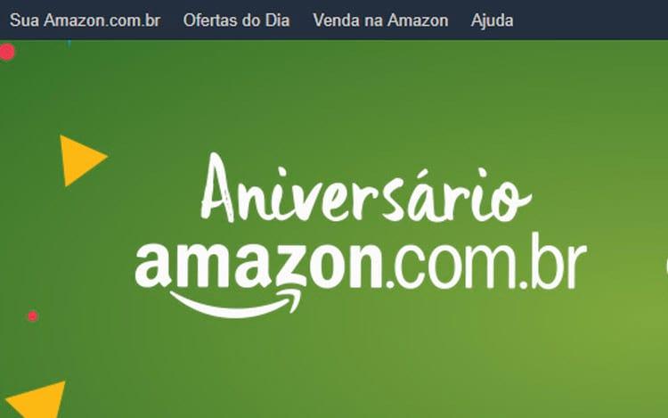 Amazon oferece descontos em vários produtos em data de aniversário