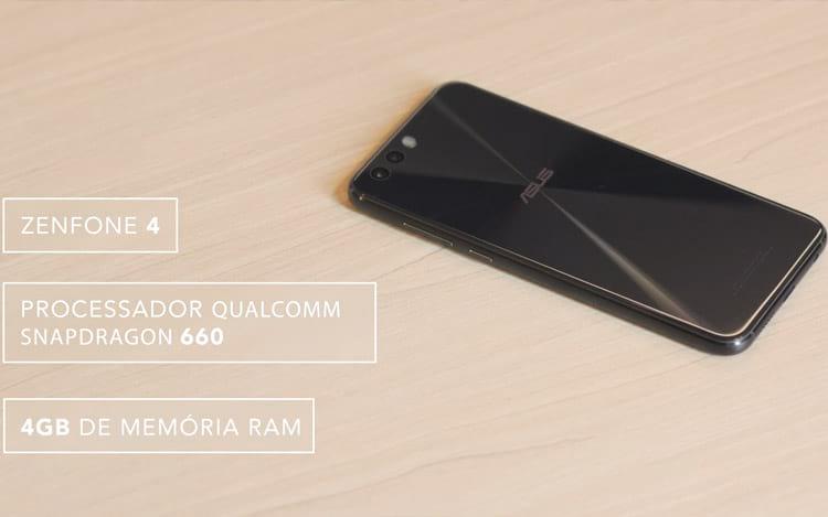 Asus Zenfone 4 com 4GB de memória RAM e Snapdragon 660