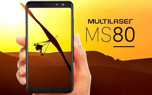 Multilaser anuncia o smartphone intermediário MS80 com bordas finas e tela 18:9