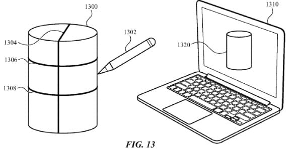 Forma cilíndrica parace estar sendo transmitido diretamente para o notebook