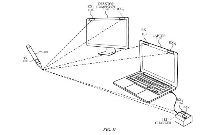 Patente revela caneta da Apple que escreve no ar