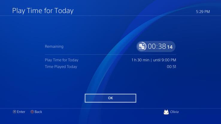 ps4 agora permite aos pais definir quanto tempo os filhos podem jogar por dia