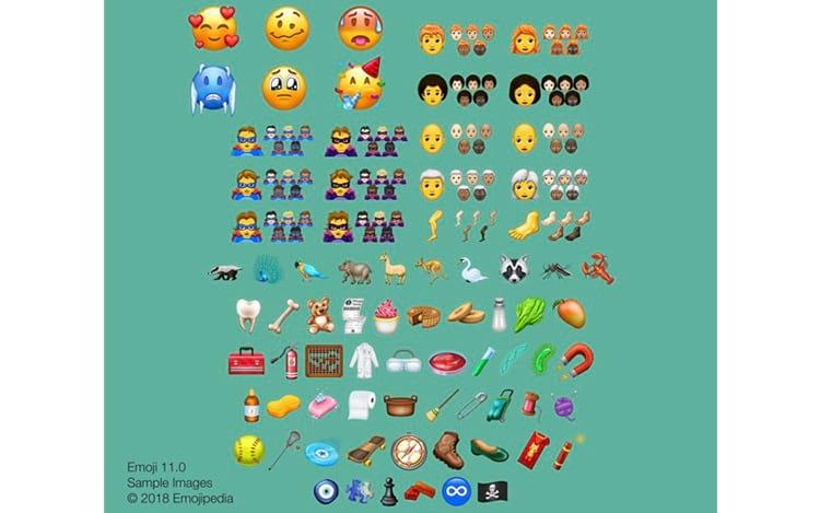 157 novos emojis chegam em 2018