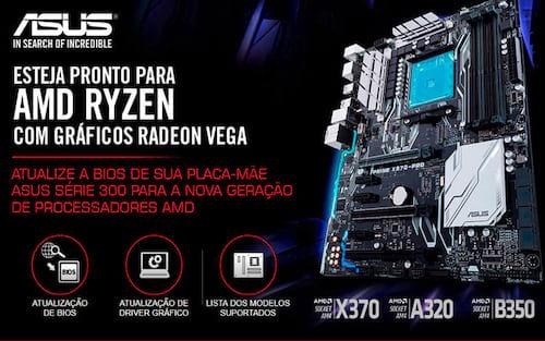 ASUS anuncia suporte para processadores AMD Ryzen com gráficos Radeon