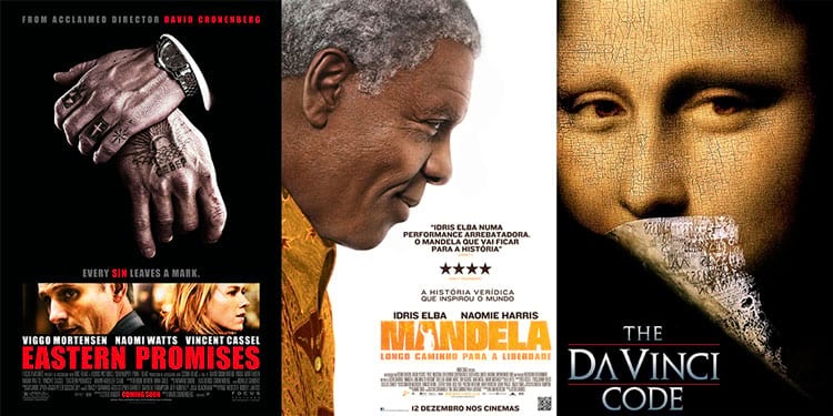 Senhores do Crime / Mandela / O Código Da Vinci