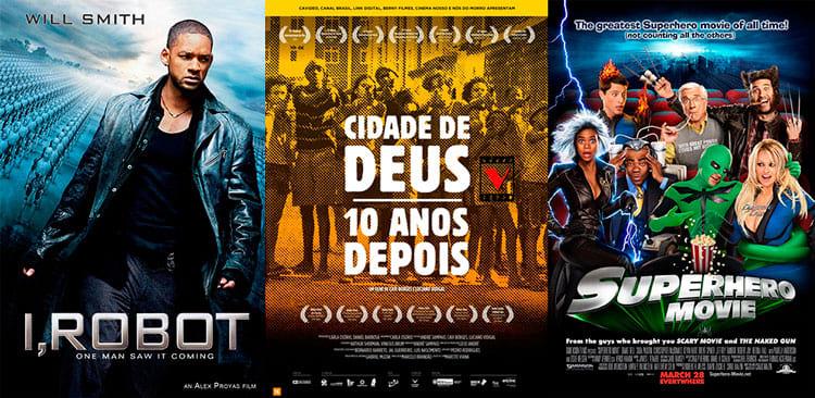 Eu, Robô / Doc Cidade de Deus 10 anos depois / Super-heróis o Filme