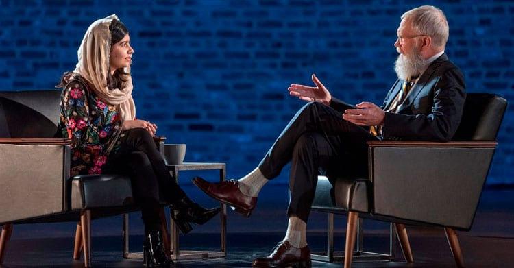 Malala é a 3ª entrevistada no original Netflix e David Letterman