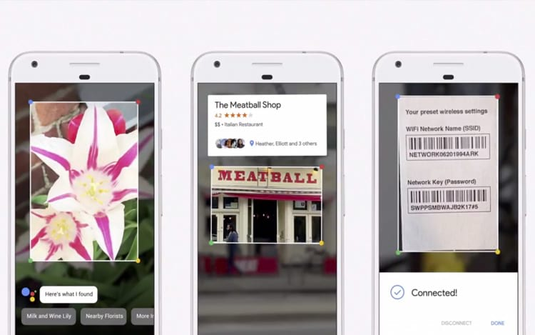 Através da imagem, a tecnologia Lens pode reconhecer de fachadas de lojas até código de barras e tipos de flores.