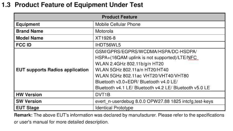 Moto XT1926-8 homologado pela FCC. Seria o Moto G6 Plus?