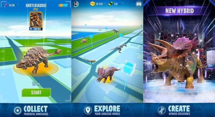 Em Jurassic World Alive você pode coletar o DNA dos dinossauros para dar vida a suas criaturas e ainda criar batalhas com outras criaturas!