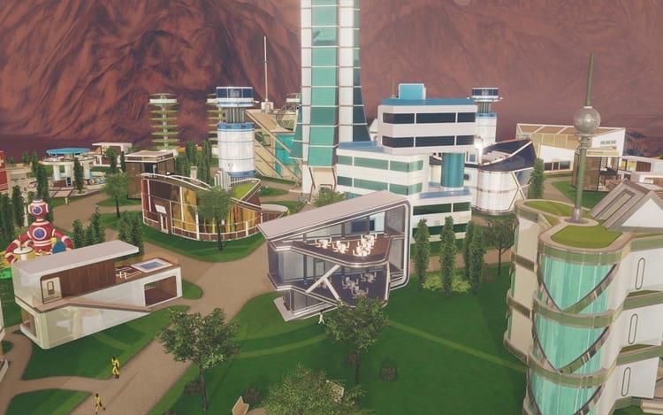 O jogador deve manter em equilíbrio o bem estar da sociedade com a construção de mais cúpulas.