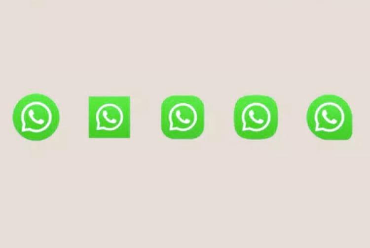 São 5 opções disponíveis para mudar o ícone do WhatsApp.