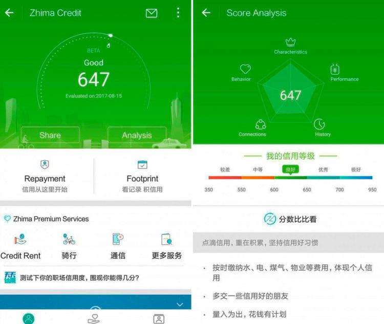 Zhima credit é mais um dos sistemas de avaliação em versão beta que estão funcionando