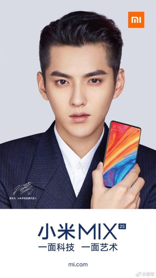 Xiaomi divulga pôsteres oficiais com a parte frontal do Mi Mix 2S