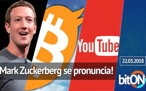 bitON 21/03 - Zuckerberg quebra silêncio sobre Facebook / CEO do Twitter acredita no Bitcoin / YouTube com serviço streaming