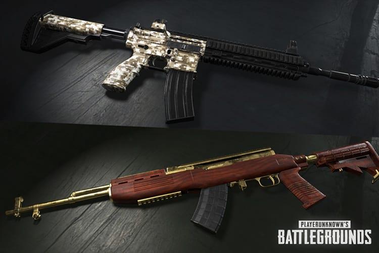 Novas skins para armas.