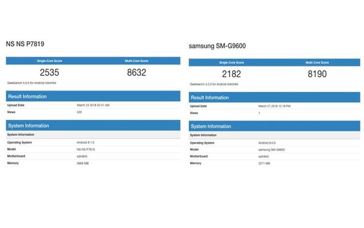 O teste mostra a diferença entre o suposto OnePlus 6 e o Samsung Galaxy S9.