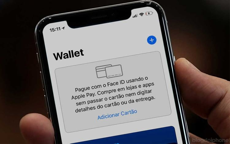 O Apple Pay funciona por meio do aplicativo Wallet.