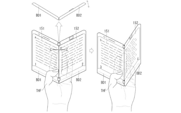 Surge modelo dobrável patenteado pela LG com duas baterias e duas entradas para fone de ouvido
