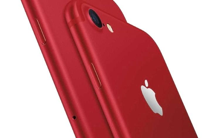 Apple anuncia iPhone 8 vermelho.