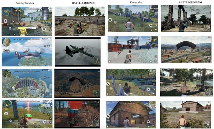 Comparação entre os dois jogos com o Battleground. (Foto: arstechnica)
