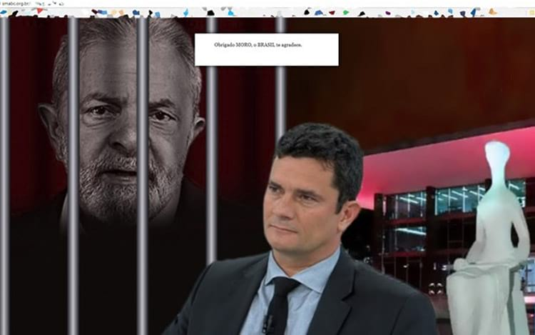 Hacker adiciona imagem de Sérgio Moro no site